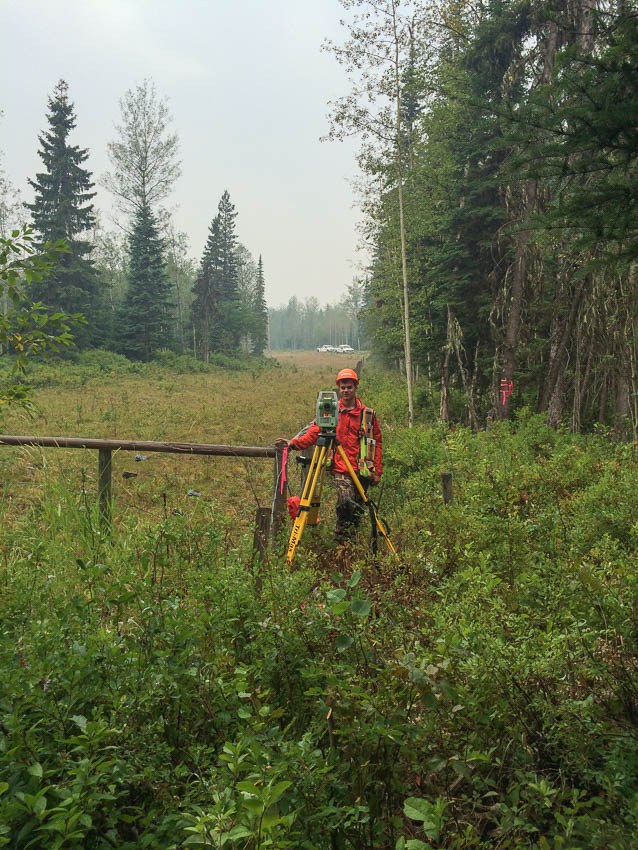 Land surveying in Prince George and surrounding area